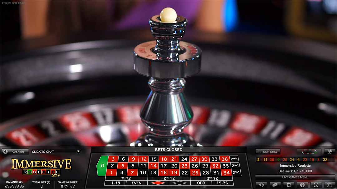 Immersive Live Roulette from Evolution Gaming - One of the most popular Live Roulette Game