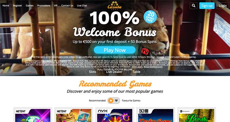 Screenshot Casimba Casino