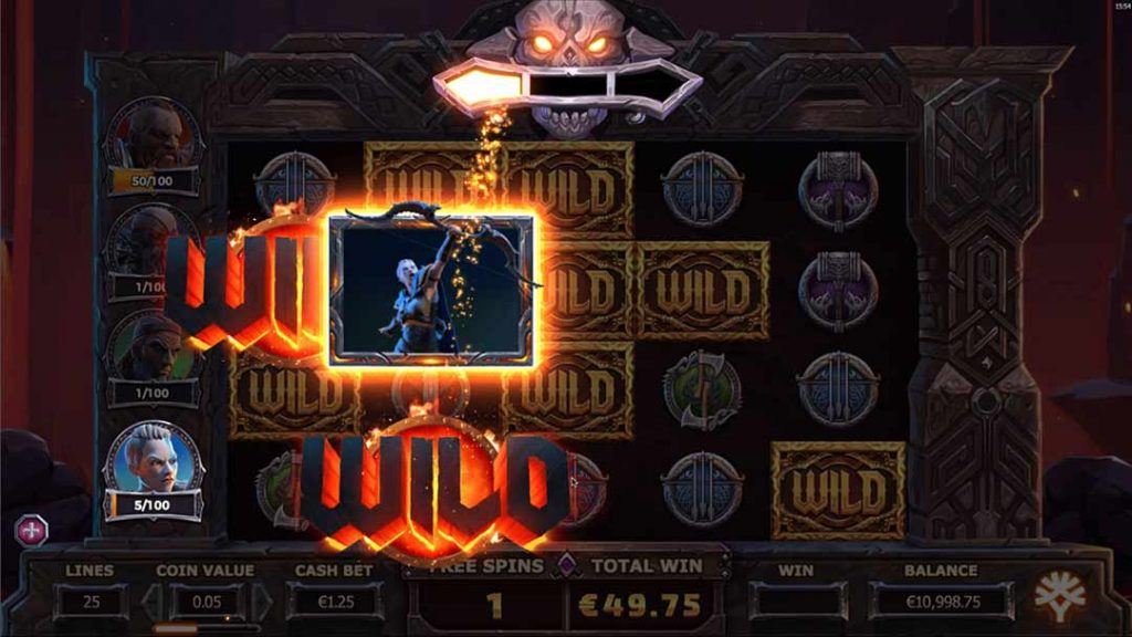 Vikings go to Hell from Yggdrasil in Free Spins mode