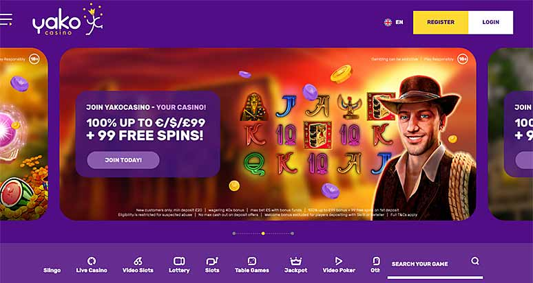 Screenshot Yako Casino