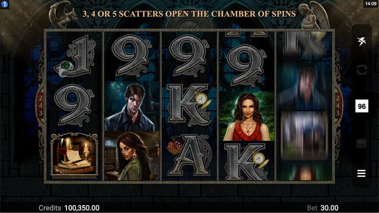 Immortal Romance Slot from Microgaming in demo mode.
