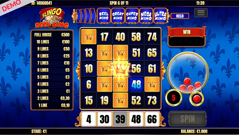 Screenshot Slingo Reel King Slot from Slingo