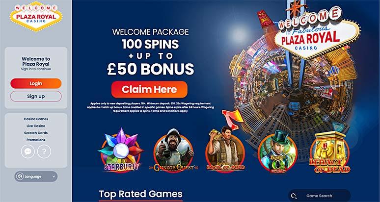 Screenshot Plaza Royal Casino